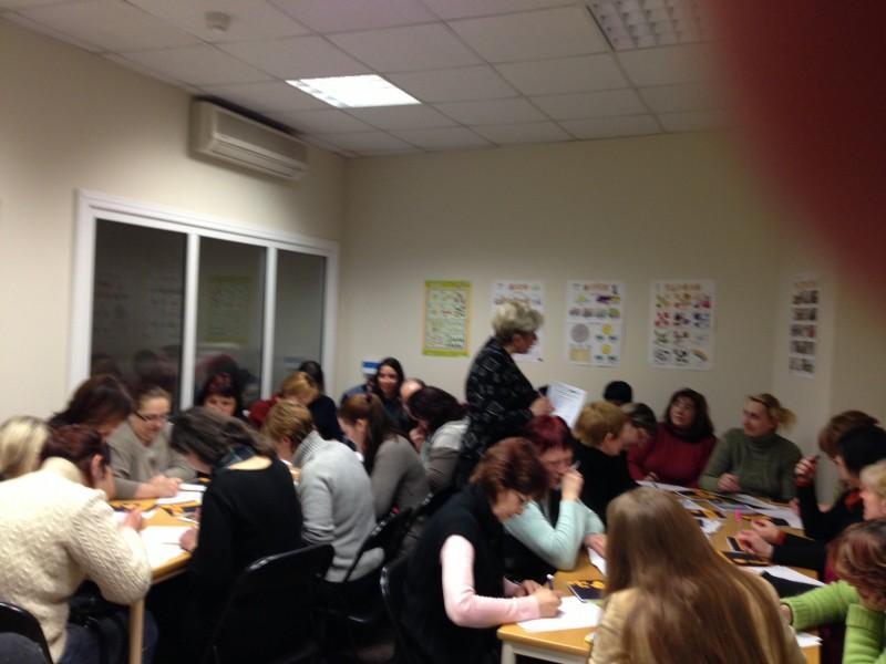 Latviešu valodas pirmā nodarbība Rīgā, 21. janvārī