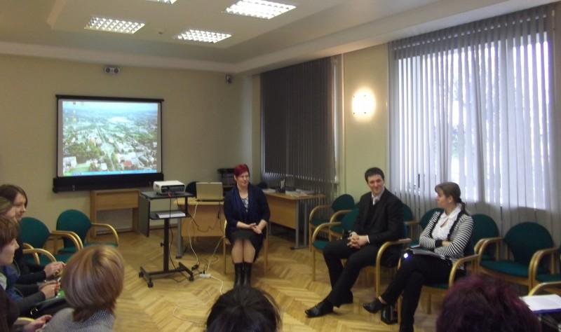 Discussion on human trafficking in Rezekne municipality.