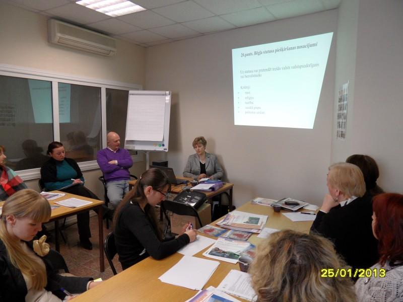 Seminārs par bēgļu integrāciju Latvijā, 25. janvāris, Patvērums Drošā māja