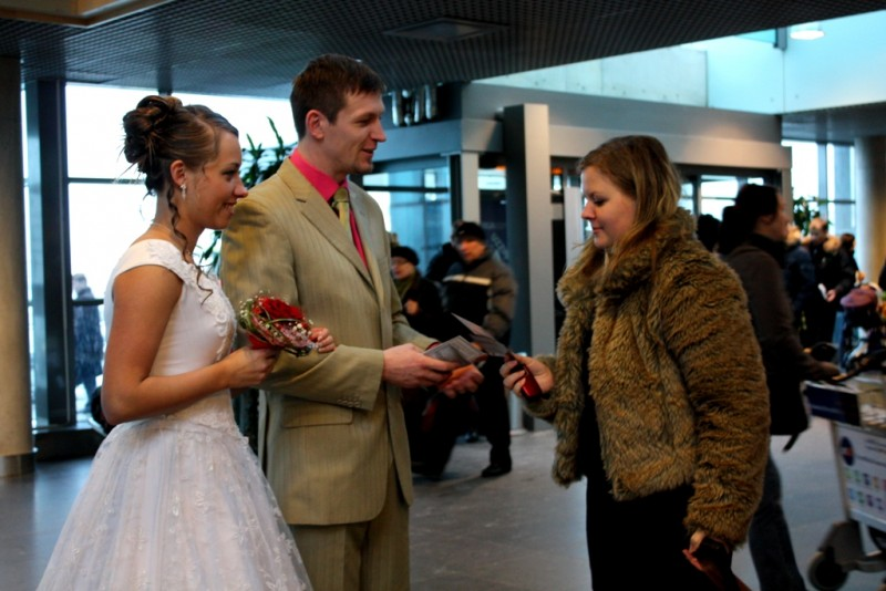 Campaign against human trafficking in Riga International Airport.