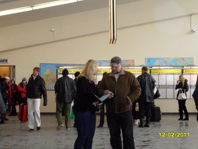 Campaign against human trafficking in Riga International Coach Terminal.
