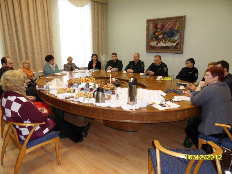 Discussion on human trafficking in Liepaja municipality.