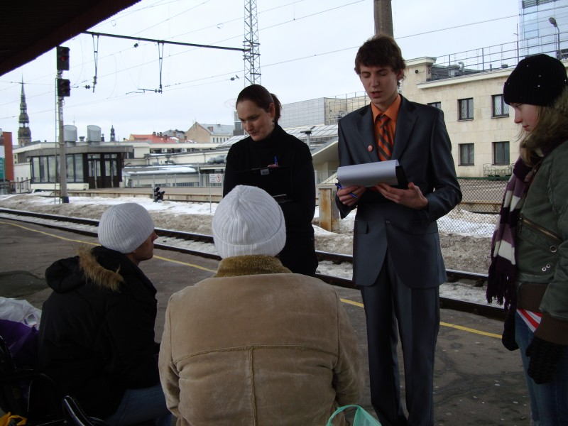 Campaign against human trafficking in Latvian Railway, sc Origo.