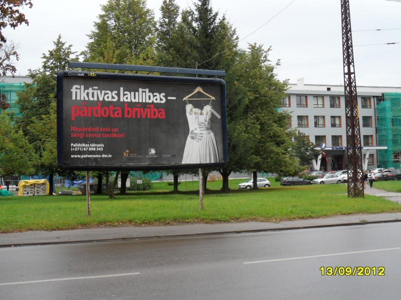 Campaign against human trafficking in Riga.