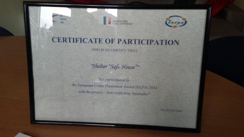 Eiropas Noziedzības novēršanas balva 2014 | Patvērums Drošā Māja