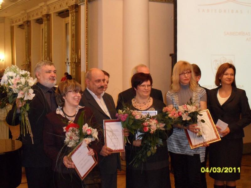 Prize giving for society Shelter Safe House | Patvērums Drošā Māja