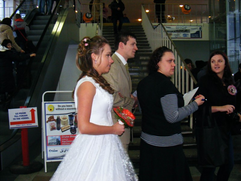 Campaign against human trafficking in Riga Passenger Port.
