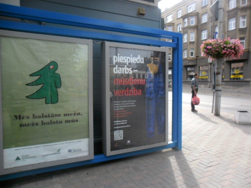 Campaign against human trafficking in Liepaja.