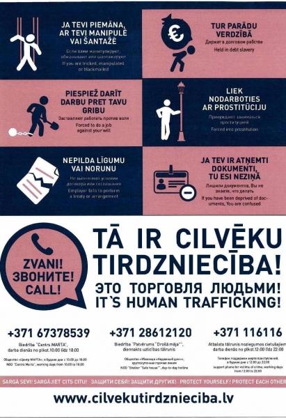 Jau drīz AS Pasažieru vilciens vagonos tiks izvietoti informatīvi plakāti par cilvēktirdzniecības veidiem | Patvērums Drošā Māja