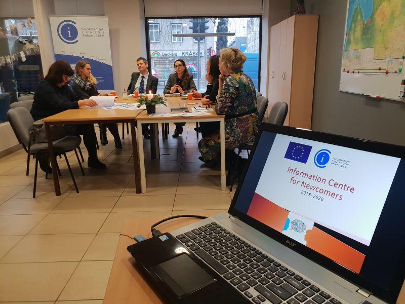 Eiropas Komisijas pārstāvji apmeklē ICI | Patvērums Drošā Māja